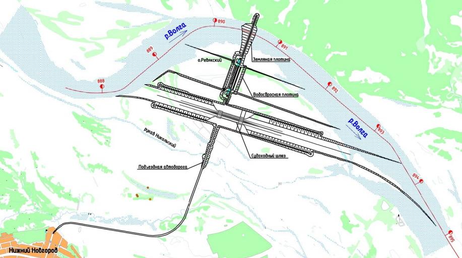 Низконапорная плотина схема карта