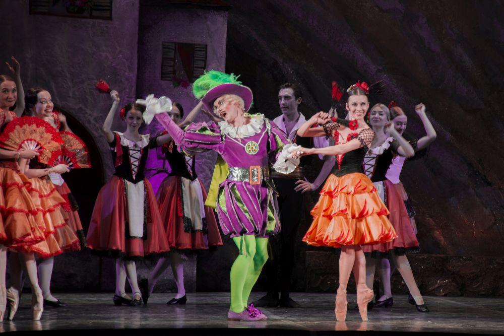 Сцена из балета «Дон Кихот». Гамаш, богатый дворянин